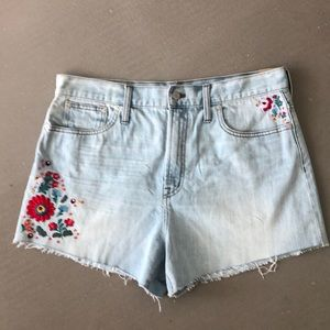 """*Brand New"""" NWT Madewell Embroidered Denim Short"""